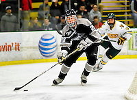 5 February 2011: Providence College Friar defenseman Steven Shamanski, a Freshman from Carberry, Manitoba in action against the University of Vermont Catamounts at Gutterson Fieldhouse in Burlington, Vermont. The Catamounts defeated the Friars 7-1 in the second game of their weekend series. Mandatory Credit: Ed Wolfstein Photo