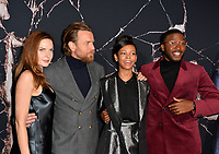 """LOS ANGELES, USA. October 30, 2019: Rebecca Ferguson, Ewan McGregor, Kyliegh Curran & Zackary Momoh at the US premiere of """"Doctor Sleep"""" at the Regency Village Theatre.<br /> Picture: Paul Smith/Featureflash"""