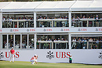 Peter Uihlein of USA (in pink) and Danny Willett of England (in red) play on the green of the 18th hole during the 58th UBS Hong Kong Golf Open as part of the European Tour on 11 December 2016, at the Hong Kong Golf Club, Fanling, Hong Kong, China. Photo by Vivek Prakash / Power Sport Images
