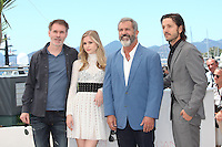 DIRECTOR JEAN-FRANCOIS RICHET, ERIN MORIARTY, MEL GIBSON AND DIEGO LUNA - PHOTOCALL OF THE FILM 'BLOOD FATHER' AT THE 69TH FESTIVAL OF CANNES 2016