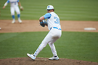 North Carolina Tar Heels relief pitcher Nik Pry (36) in action against the North Carolina State Wolfpack at Boshamer Stadium on March 27, 2021 in Chapel Hill, North Carolina. (Brian Westerholt/Four Seam Images)