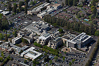 aerial photograph of Providence Queen of the Valley Medical Center, Napa, California, a Level III adult trauma center; the medical center is the largest employer in Napa County