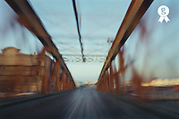 France, Marseille, road bridge(blurred motion) (Licence this image exclusively with Getty: http://www.gettyimages.com/detail/200337525-001 )