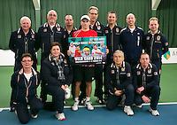 19-01-14,Netherlands, Rotterdam,  TC Victoria, Wildcard Tournament, ,   Final,  Alban Meuffels (NED)    between the umpires.<br /> Photo: Henk Koster