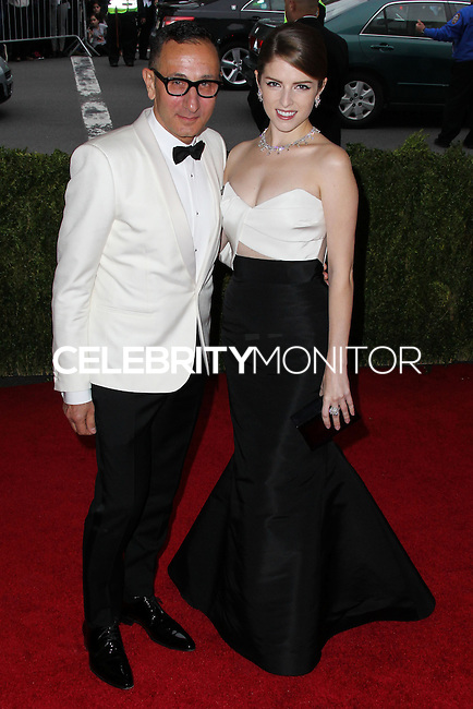 """NEW YORK CITY, NY, USA - MAY 05: Gilles Mendel, Anna Kendrick at the """"Charles James: Beyond Fashion"""" Costume Institute Gala held at the Metropolitan Museum of Art on May 5, 2014 in New York City, New York, United States. (Photo by Xavier Collin/Celebrity Monitor)"""