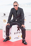 Japanese director Takashi Miike pose to media at Sitges Film Festival in Barcelona, Spain October 14, 2017. (ALTERPHOTOS/Borja B.Hojas)