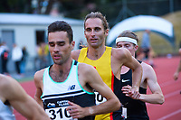 Hamish Carson competes in the men's elite 1500m. 2021 Capital Classic athletics at Newtown Park in Wellington, New Zealand on Saturday, 20 February 2021. Photo: Dave Lintott / lintottphoto.co.nz