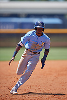 Tampa Bay Rays Yunior Martinez (78) running the bases during a Minor League Extended Spring Training game against the Baltimore Orioles on April 17, 2019 at Charlotte County Sports Complex in Port Charlotte, Florida.  (Mike Janes/Four Seam Images)