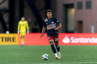 FOXBOROUGH, UNITED STATES - AUGUST 21: Nicolas Firmino #29 of New England Revolution II brings the ball forward during a game between Richmond Kickers and New England Revolution II at Gillette Stadium on August 21, 2020 in Foxborough, Massachusetts.