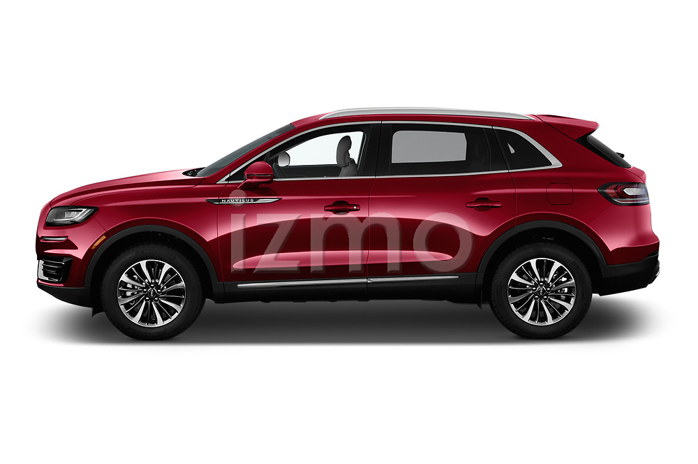 Car driver side profile view of a 2019 Lincoln Nautilus Select 5 Door SUV