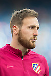 Goalkeeper Jan Oblak of Atletico de Madrid in training prior to their La Liga match between Atletico de Madrid and Granada CF at the Vicente Calderon Stadium on 15 October 2016 in Madrid, Spain. Photo by Diego Gonzalez Souto / Power Sport Images