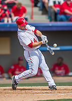 13 March 2016: Washington Nationals outfielder Chris Heisey in action during a pre-season Spring Training game against the St. Louis Cardinals at Space Coast Stadium in Viera, Florida. The teams played to a 4-4 draw in Grapefruit League play. Mandatory Credit: Ed Wolfstein Photo *** RAW (NEF) Image File Available ***