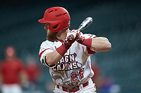 Daniel Lahare (26) of the Louisiana Ragin' Cajuns at bat against the Mississippi State Bulldogs in game three of the 2018 Shriners Hospitals for Children College Classic at Minute Maid Park on March 2, 2018 in Houston, Texas.  The Bulldogs defeated the Ragin' Cajuns 3-1.   (Brian Westerholt/Four Seam Images)
