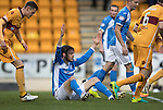 St Johnstone v Motherwell…17.12.16     McDiarmid Park    SPFL<br />Murray Davidson appeals for a foul<br />Picture by Graeme Hart.<br />Copyright Perthshire Picture Agency<br />Tel: 01738 623350  Mobile: 07990 594431