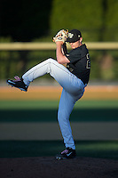 Wake Forest Demon Deacons relief pitcher Garrett Kelly (28) in action against the Florida State Seminoles at David F. Couch Ballpark on April 16, 2016 in Winston-Salem, North Carolina.  The Seminoles defeated the Demon Deacons 13-8.  (Brian Westerholt/Four Seam Images)
