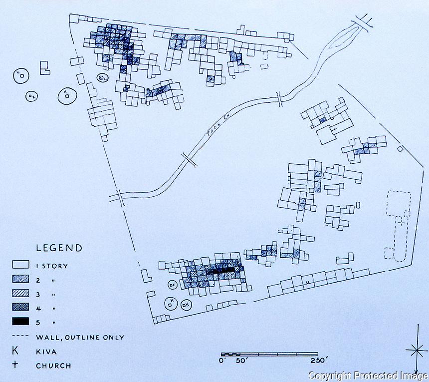 Taos Pueblo Plan--1950.  Oct. 1987.