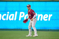 Frisco RoughRiders outfielder Steele Walker (2) during a game against the San Antonio Missions on June 25, 2021 at Dr. Pepper Ballpark in Frisco, Texas.  (Ken Murphy/Four Seam Images)