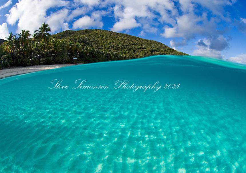 Trunk Bay split level.St John