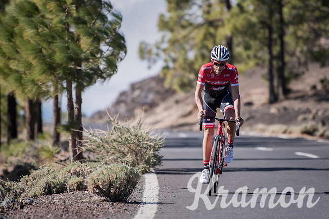 Team Trek-Segafredo winter training camp with Alberto Contador up the Tiede Volcano in Tenerife<br /> <br /> january 2017, Tenerife/Spain