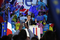 EMMANUEL MACRON - MEETING DE MACRON AU PARIS EVENT CENTER, PORTE DE LA VILLETTE A PARIS, FRANCE, LE 01/05/2017.