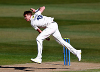 Fred Klaassen bowls for Kent during Kent CCC vs Lancashire CCC, LV Insurance County Championship Group 3 Cricket at The Spitfire Ground on 22nd April 2021