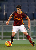 Calcio, Serie A: Roma vs Sampdoria. Roma, stadio Olimpico, 7 febbraio 2016.<br /> Roma's Diego Perotti in action during the Italian Serie A football match between Roma and Sampdoria at Rome's Olympic stadium, 7 January 2016.<br /> UPDATE IMAGES PRESS/Riccardo De Luca