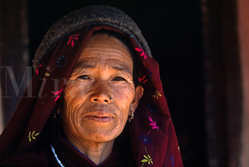 NEPALI woman in Siklis village - NEPAL HIMALAYA