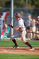 Minnesota Golden Gophers center fielder Alex Boxwell (2) at bat during a game against the Boston College Eagles on February 23, 2018 at North Charlotte Regional Park in Port Charlotte, Florida.  Minnesota defeated Boston College 14-1.  (Mike Janes/Four Seam Images)