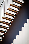 Abstract of stairs up the side of a water tower