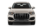 Car photography straight front view of a 2020 Audi Q7 Premium 5 Door SUV Front View