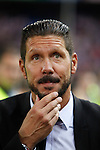 Atletico de Madrid´s Diego Pablo `Cholo´Simeone after winning the 2014 Supercopa de España `Spain Supercup´  at Vicente Calderon stadium. August 22, 2014. (ALTERPHOTOS/Victor Blanco)