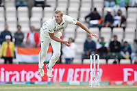 Kyle Jamieson, New Zealand follows through during India vs New Zealand, ICC World Test Championship Final Cricket at The Hampshire Bowl on 22nd June 2021