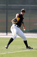 Pittsburgh Pirates minor league outfielder Daniel Grovatt vs. the Toronto Blue Jays during an Instructional League game at Pirate City in Bradenton, Florida;  October 11, 2010.  Photo By Mike Janes/Four Seam Images