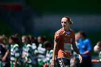 MELBOURNE, AUSTRALIA - DECEMBER 4: Karla REUTER from Roar enters the field in round 5 of the Westfield W-league match between Melbourne Victory and Brisbane Roar on 4 December 2010 at AAMI Park in Melbourne, Australia. (Photo Sydney Low / asteriskimages.com)