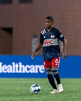 FOXBOROUGH, MA - AUGUST 21: Maciel #6 of New England Revolution II brings the ball forward during a game between Richmond Kickers and New England Revolution II at Gillette Stadium on August 21, 2020 in Foxborough, Massachusetts.