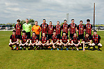 Bridge United A before their Clare Cup Final at Frank Healy Park. Photograph by John Kelly.