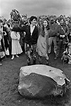 Avebury Wiltshire, Druid couple celebrating a renewal of their wedding vows 1996.
