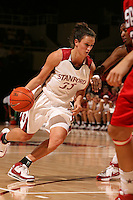 15 November 2007: Stanford Cardinal Jillian Harmon during Stanford's 97-62 loss against the USA Women's National Basketball Team at Maples Pavilion in Stanford, CA.