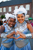 Baby Dolls and Gents Drill Team & Drum Line, Chinatown Seafair Parade 2016, Seattle, WA, USA.