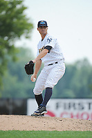 Trenton Thunder pitcher Taylor Garrison (11) during game against the Akron RubberDucks at ARM & HAMMER Park on July 14, 2014 in Trenton, NJ.  Akron defeated Trenton 5-2.  (Tomasso DeRosa/Four Seam Images)
