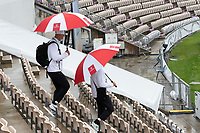 The officials head out from the hotel to the pitch early morning during India vs New Zealand, ICC World Test Championship Final Cricket at The Hampshire Bowl on 21st June 2021