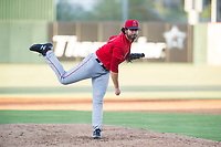 AZL Angels relief pitcher Austin Krzeminski (40) follows through on a pitch during a game against the AZL Indians on August 7, 2017 at Tempe Diablo Stadium in Tempe, Arizona. AZL Indians defeated the AZL Angels 5-3. (Zachary Lucy/Four Seam Images)