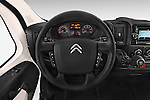 Car pictures of steering wheel view of a 2015 Citroen Jumper L1H1 Club 3 Door Cargo Van Steering Wheel