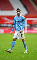 31st October 2020; Bramall Lane, Sheffield, Yorkshire, England; English Premier League Football, Sheffield United versus Manchester City; Ferran Torres of Manchester City during the match moves forward with play