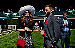LEXINGTON, KENTUCKY - APRIL 07: Fans gather near the rail before an undercard race on opening day at Keeneland Race Course on April 7, 2017 in Lexington, Kentucky. (Photo by Scott Serio/Eclipse Sportswire/Getty Images)