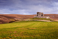Thomas Cochrane probably built Auchindoun Castle in the mid to late 1400's.  He was employed by the unpopular King James III to control the earldom of Mar.  Nobles hanged Cochrane in 1482 during a plot to unseat the king.  Due to the Catholic/Protestant rivalry, Auchindoun was attacked and burned in the late 1500's and laid derelict by 1725.