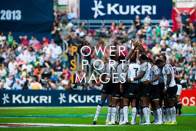 Fiji play Hong Kong on Day 1 of the Cathay Pacific / HSBC Hong Kong Sevens 2013 at Hong Kong Stadium, Hong Kong. Photo by Aitor Alcalde / The Power of Sport Images