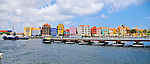 2 August 2009: The Queen Emma floating bridge opens for a ship to pass in Willemstad, the capital city of Curacao. Located in the southern Caribbean, off the coast of Venezuela, Curacao is known for its tourism, excellent scuba diving and snorkeling.  Mandatory Credit: Ed Wolfstein Photo
