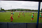 Wales 1 Scotland 1, 20/05/2008. Llanelian Road, Old Colwyn, Four Nations Semi-Professional Tournament. Gibraltar's players going through their pre-match warm up prior to playing England in the Four Nations Semi-Professional tournament at Colwyn Bay in a game won 1-0 by the English. The tournament was established in 2002 and was held on an annual basis featuring teams from England, Scotland and Wales and an invited team, on this occasion Gibraltar. The tournament is hosted on a rotational basis and in 2008 games were staged at Colwyn Bay FC, Rhyl FC and The New Saints ground in Oswestry. Photo by Colin McPherson.