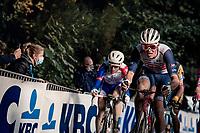 Mads Pedersen (DEN/Trek-Segafredo) up the Kemmelberg<br /> <br /> 82nd Gent-Wevelgem in Flanders Fields 2020 (1.UWT)<br /> 1 day race from Ieper to Wevelgem (232km)<br /> <br /> ©kramon